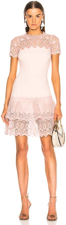 Jonathan Simkhai Short Sleeve Mini Dress in Petal   FWRD