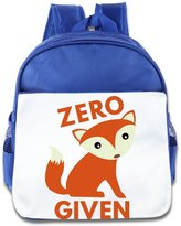 XJBD Kids Bags XJBD Custom Cool Zero Fox Given Boys And Girls School Backpack For 1-6 Years Old