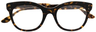 Bottega Veneta Tortoiseshell-Effect Cat-Eye Glasses