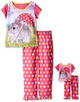 Komar Kids Girls Pajama with Matching 18 Inch Doll Sleepwear , Assorted, X-Large