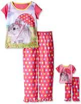 Komar Kids Girls Pajama with Matching 18 Inch Doll Sleepwear , Multi, Small