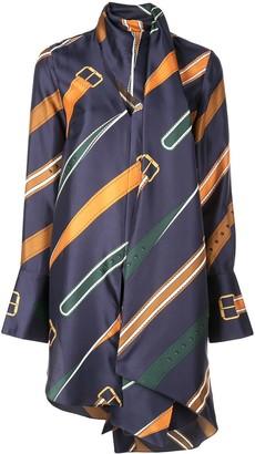Monse belt print long shirt