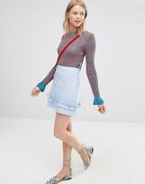 Asos A-Line Mini Skirt With Ruffle Hem