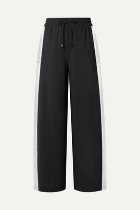 Koral Willow Lame-trimmed Stretch Track Pants - Black