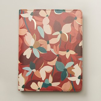 Indigo Paper Refillable Enclosed Sprial Notebook Floral Terracotta