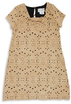 Us Angels Girls 7-16 Faux Suede Laser-Cut Shift Dress