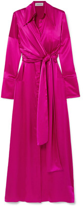 16Arlington Silk-satin Maxi Dress