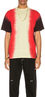 Ambush Tie Dye Paneled T-Shirt in Light Yellow Multi   FWRD