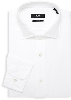 HUGO BOSS Textured Slim-Fit Dress Shirt