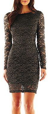JCPenney Bisou Bisou® Illusion Lace Dress