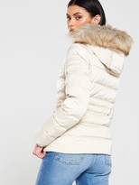 Calvin Klein Jeans Short Down Fitted Padded Jacket - Sand