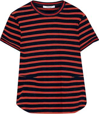 Derek Lam 10 Crosby Striped Pointelle-knit Cotton T-shirt