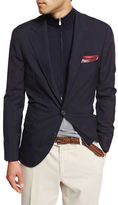 Brunello Cucinelli Three-Button Travel Blazer