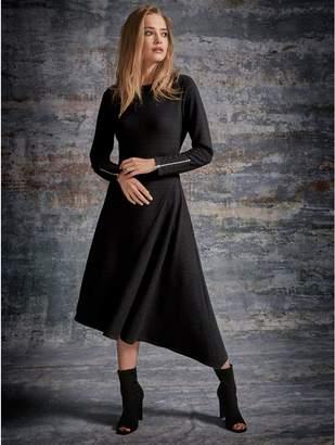 M&Co Sonder Studio ribbed asymmetric dress