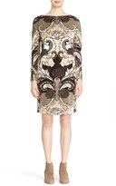 Lafayette 148 New York Women's Devore Paisley Bateau Neck Shift Dress