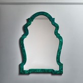 Graham and Green Thea Faux Malachite Mirror