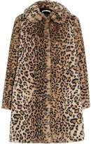 Alice + Olivia Kinsley Oversized Leopard-print Faux Fur Coat