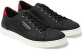 Dolce & Gabbana - Rubberised Textured-leather Sneakers