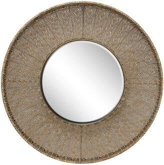 Uma Enterprises Uma Pierced Metal Round Wall Mirror