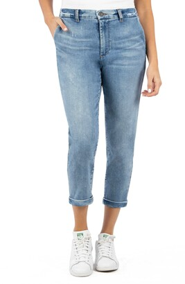 KUT from the Kloth Jennifer High Waist Crop Skinny Jeans