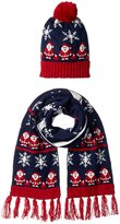 It's Our Time Women's Ugly Christmas Santa Gift Set with Beanie and Scarf