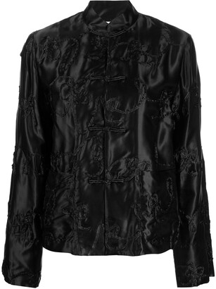 COMME DES GARÇONS GIRL Embroidered Long-Sleeve Blouse