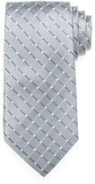 Croft & Barrow Big & Tall Extra-Long Dotted-Grid Tie