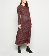 New Look Maternity Floral Long Sleeve Midi Dress