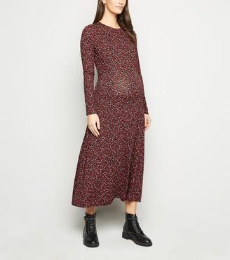 New Look Maternity Floral Long Sleeve Midi Dress
