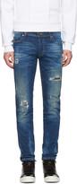 Diesel Blue Destroyed Sleenker Jeans