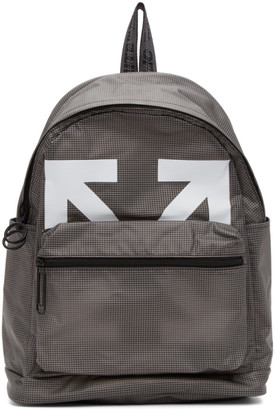 Off-White Grey and White Arrows PVC Backpack