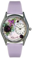 Whimsical Watches Women's S0910002 Imitation Birthstone: February Lavender Purple Leather Watch