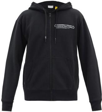 Fragment 7 Moncler Thunderbolt Project Hooded Zip-up Sweatshirt - Black