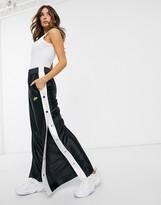 Nike Glam Dunk popper side wide leg sweatpants in black