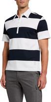 Thom Browne Men's Rugby Stripe Polo Shirt