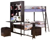 ACME Furniture Risley Kids Bunk Bed - Silver and Black(Twin) - Acme