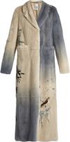 Valentino Kimono 1997-print mink-fur coat