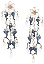 Lydia Courteille fish detail drop earrings