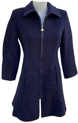 Burberry Blue Wool Coats