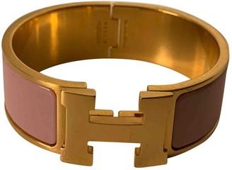 Hermã ̈S HermAs Clic H Pink Steel Bracelets