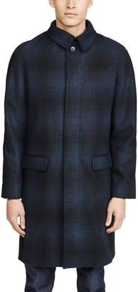 A.P.C. Plaid Wool Mac Jacket