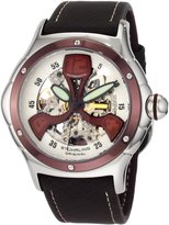 Stuhrling Original Men's 4AT.3375K2 'Alpine' Skeleton Tonneau-Shaped Automatic Watch