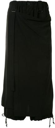 Yohji Yamamoto Loose Fit Cropped Wrap Trousers