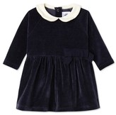 Petit Bateau Baby girls dress in velours