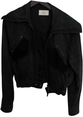 BA&SH Grey Leather Jacket for Women