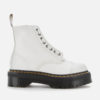 Dr. Martens Women's Sinclair Leather Zip Front Boots - White
