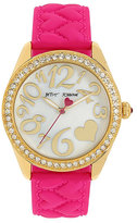 Betsey Johnson Silicone Hearts Pink Watch