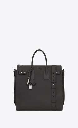 Saint Laurent Sac De Jour North/south Tote In Grained Leather Storm Onesize