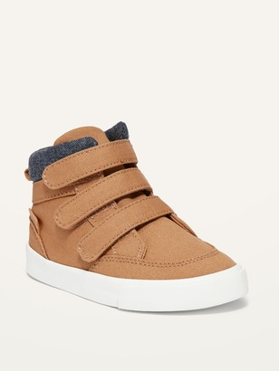 Old Navy Unisex Triple-Strap Canvas High-Top Sneakers for Toddler