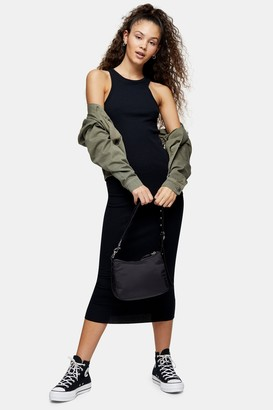 Topshop Black Racer Bodycon Dress